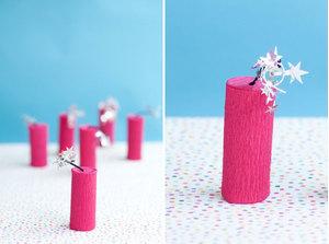 Làm đồ trang trí Tết với pháo giấy handmade