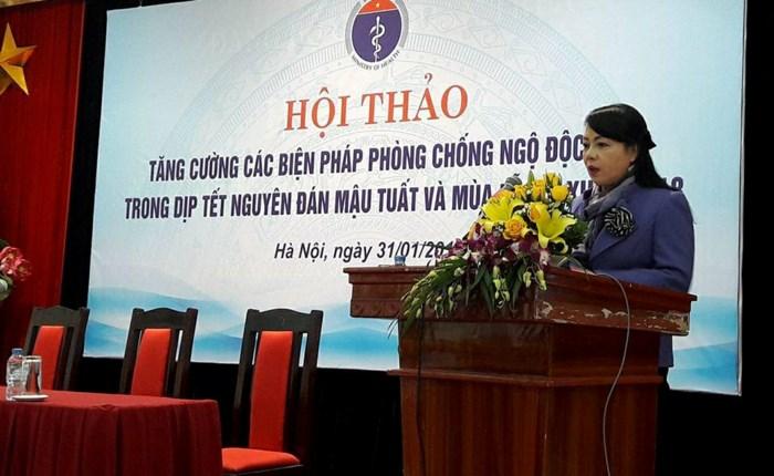 Bộ trưởng Bộ Y tế phát biểu tại Hội thảo phòng, chống ngộ độc rượu
