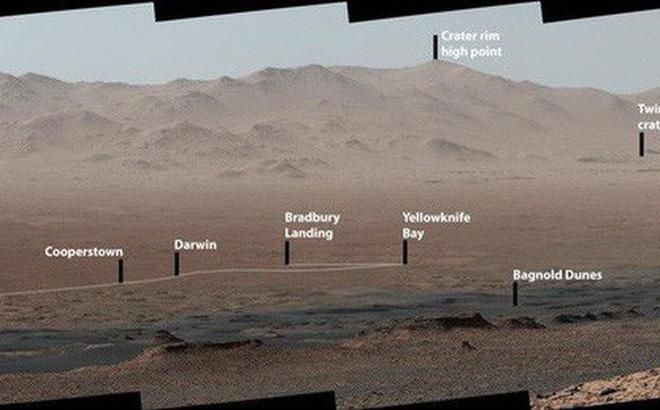 Cảnh núi non hùng vĩ trên sao Hỏa khiến nhiều người bất ngờ