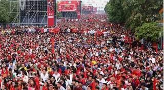 CSGT bố trí dày đặc bảo vệ U23 Việt Nam đến sân Thống Nhất