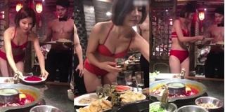 Nhân viên nhà hàng lẩu từ nam đến nữ đều lột đồ để thu hút khách