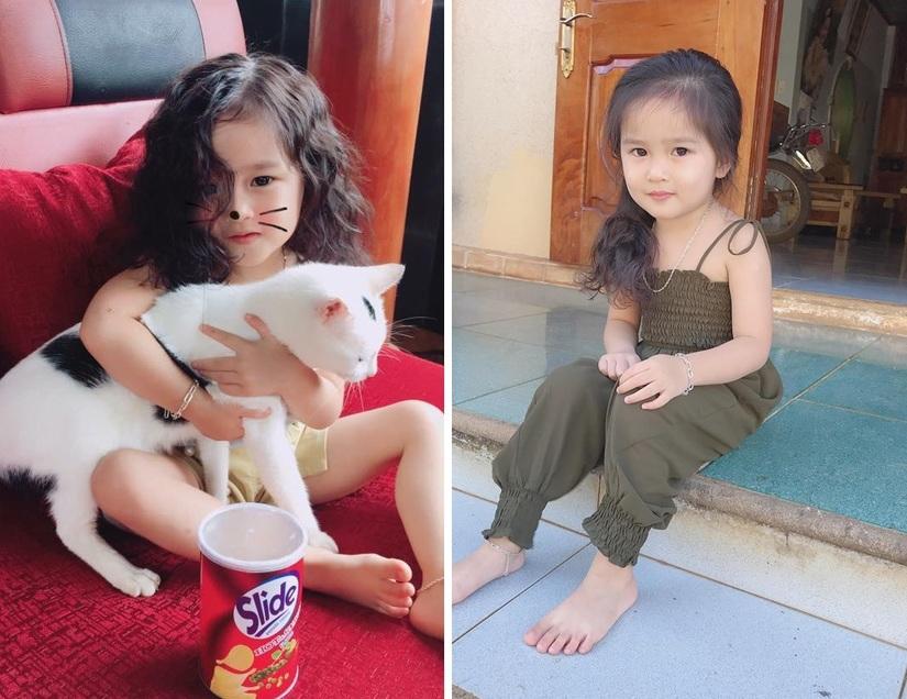 Bé gái 4 tuổi xinh xắn có duyên trong việc kinh doanh của mẹ 9X 2