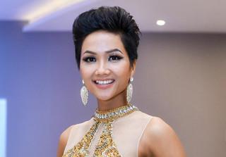 Hoa hậu hoàn vũ VN 2017 H'Hen Nie hỗ trợ thí sinh Chung kết Én Vàng 2017