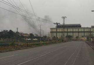 Nổ như bom ở nhà máy thép Việt - Hàn sáng 27 Tết