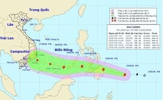 Cơn bão Sanba đang di chuyển rất nhanh trên biển Đông