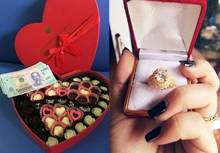 Chị em nhận quà Valentine từ ông xã: Không chỉ có hoa, mỹ phẩm mà thêm cả... tiền