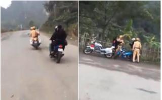 Xử phạt đôi nam nữ lạng lách, đánh võng ở khu du lịch Tràng An 7,3 triệu đồng