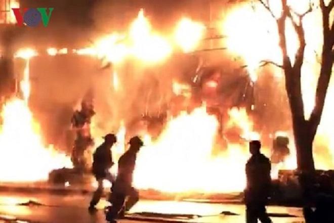Quảng Bình: Cháy lớn tại ngân hàng VP Bank
