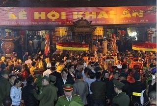 Khai ấn đền Trần: Đại biểu bị mời ra ngồi gốc cây trước giờ hành lễ