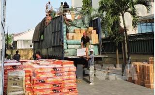 Phát hiện xe tải mang biển số nước ngoài chở 290 hộp tân dược không rõ nguồn gốc