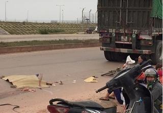Thanh Hóa: Một phụ nữ chết thảm dưới bánh xe tải