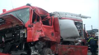Đi cấp cứu tai nạn, xe cứu hỏa tông xe khách, 1 chiến sĩ tử vong