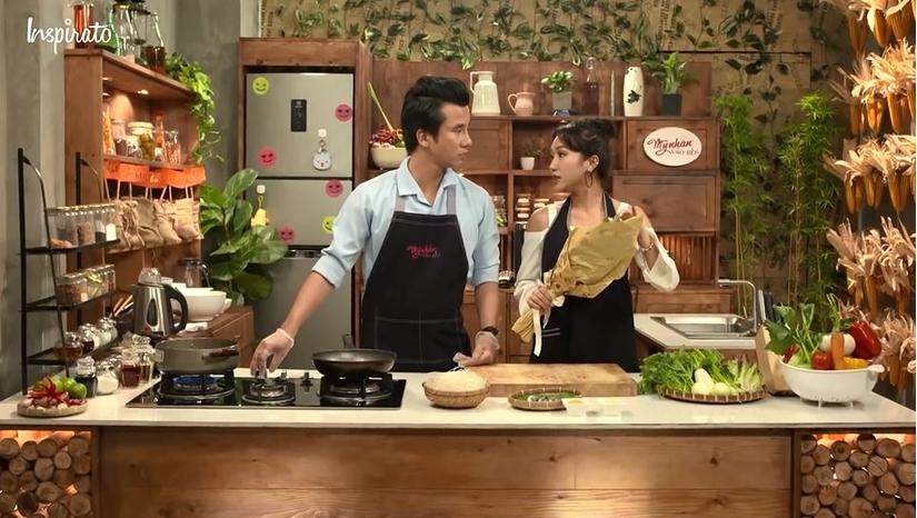 Mỹ nhân vào bếp: Diệu Nhi và Hoàng Nhân hạnh phúc bên nhau