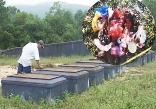 Thừa Thiên Huế: Treo quần lót bôi sơn đỏ trước hàng chục ngôi mộ để trả thù