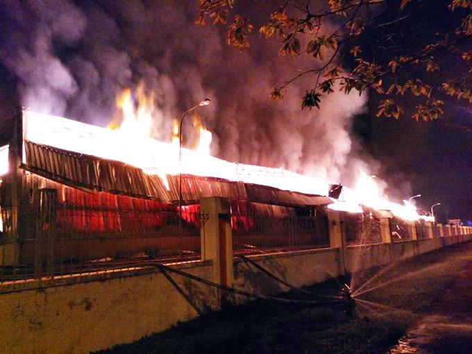 Cháy ở KCN Hải Yên: Vụ cháy cơ bản đã được dập tắt