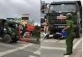 Vụ CSTT Hải Phòng đu trên đầu xe tải: Tài xế đâm đổ xe CSGT vì trượt phanh!
