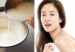 Dùng nước vo gạo theo cách này, da mặt trắng sáng, mịn màng như em bé