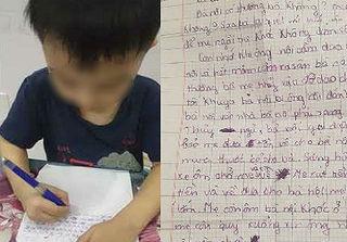 Xót xa bức thư con trai nhỏ gửi bố: