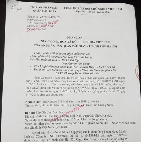 Vụ bắt xin lỗi vong linh kẻ giết người hàng loạt: Bản án tuyên không đúng pháp luật!
