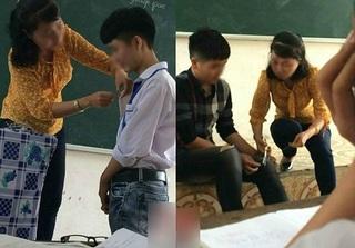 HOT mạng xã hội: Cô giáo nhẹ nhàng khâu quần áo rách cho học sinh ngay trên lớp