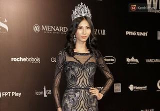 Sau Angela Phương Trinh, Cao Ngân gây sốc khi đội vương miện như 'hoa hậu' trên thảm đỏ VIFW 2018