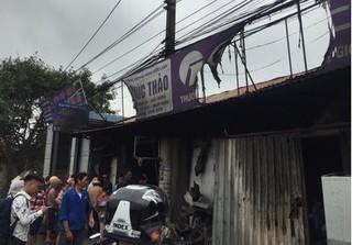 Hiện trường vụ cháy kinh hoàng trong quán sửa chữa điện lạnh khiến 3 mẹ con tử vong
