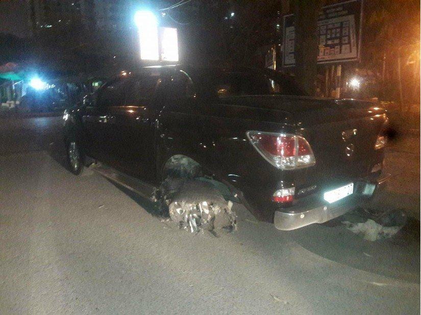 Hiện trường vụ tai nạn kéo lê trên phố