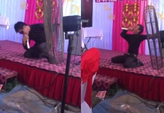 Clip thanh niên quằn quại hát Xin lỗi tình yêu trong đám cưới