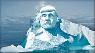 Tổng thống Trump được khắc hình trên băng Bắc cực?