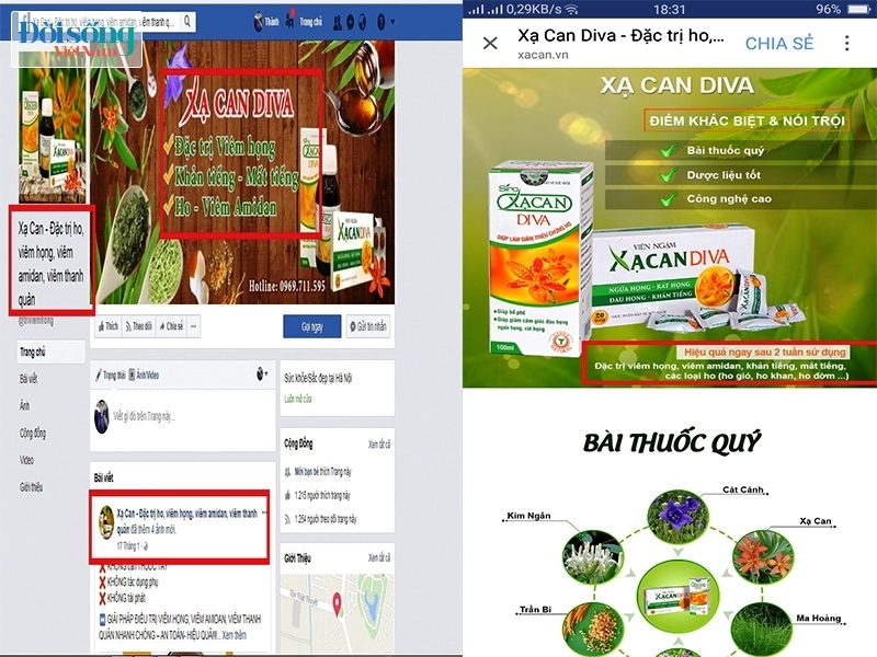 Công ty CP Dược phẩm Diva quảng cáo gian dối