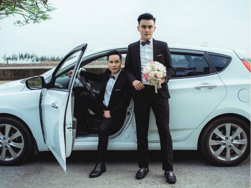 Cặp đôi đồng tính nam tại Hải Phòng đám cưới sang trọng3
