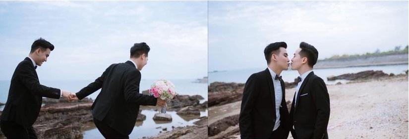 Cặp đôi đồng tính nam tại Hải Phòng đám cưới sang trọng37