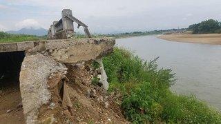 Tuyên Quang: Chưa nghiệm thu, kè trăm tỷ chống sạt lở đã sụt xuống sông Lô