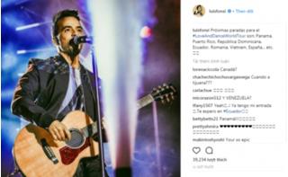 HOT: Chủ nhân hit Despacito - Luis Fonsi sẽ mang tour lưu diễn đến Việt Nam?