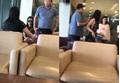 Clip chồng dẫn bồ nhí đi công tác bị vợ 'bắt sống' khi đang ôm hôn nhau ở sân bay