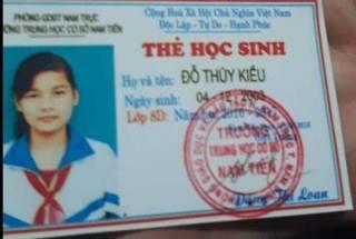 Nam Định: Nữ sinh lớp 9 bỏ nhà lên Hà Nội rồi mất tích bí ẩn