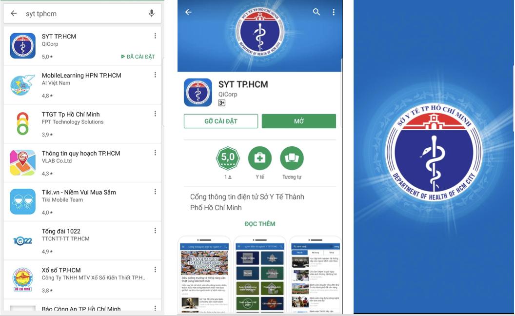 Ứng dụng của Sở Y tế TP.Hồ Chí Minh giúp người dân tra cứu thông tin