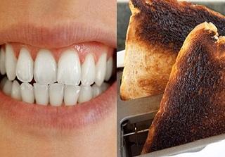 Lấy cao răng bằng bánh mì cháy, hàm răng trắng bóng đến không ngờ