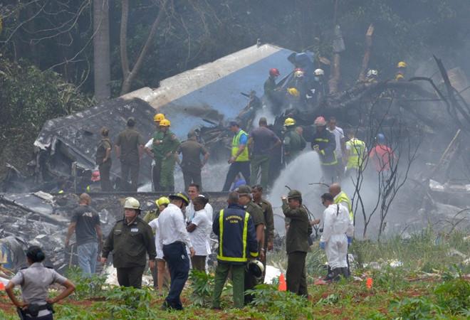 máy bay rơi ở Cuba
