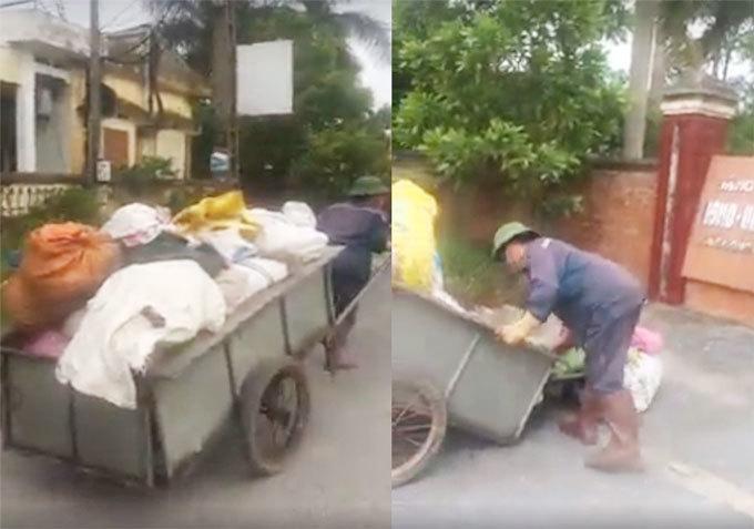 Hải Dương: Người dân dùng xe chở rác đổ trước cổng trụ sở UBND xã2