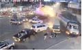 Clip: Xe tải mất phanh giữa vòng xoay, gây tai nạn liên hoàn
