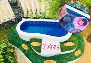 Ông bố tự làm bể bơi 'đẹp mê ly' cho con trong sân nhà khiến ai cũng trầm trồ