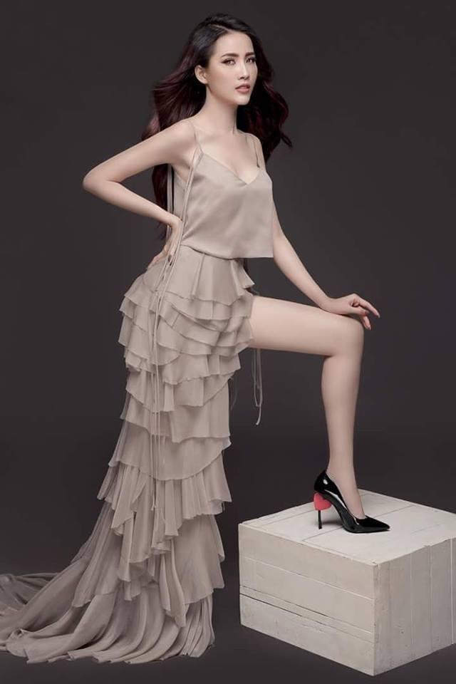 Phan Thị Mơ khoe vẻ đẹp quyến rũ trước khi tham dự Hoa hậu đại sứ du lịch Thế giới 2018