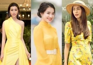Được loạt mỹ nhân lăng xê, sắc vàng trở thành hot trend