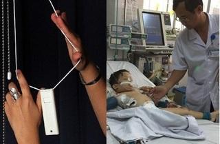 Bé trai 5 tuổi suýt mất mạng vì tai nạn không ngờ từ dây treo rèm cửa