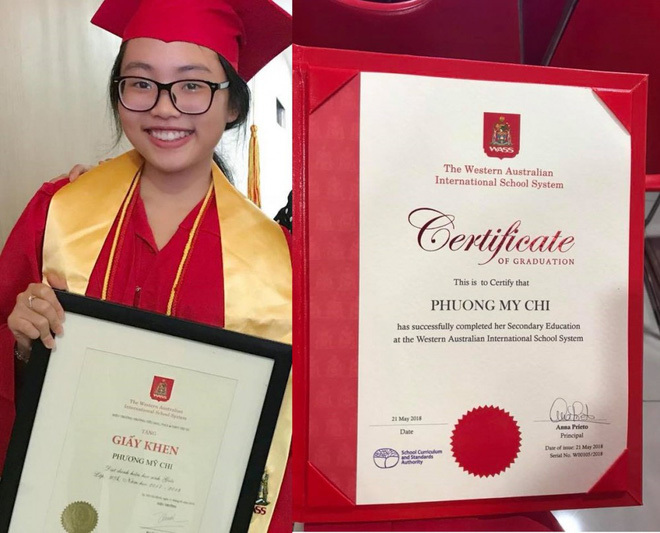 Phương Mỹ Chi xuất sắc tốt nghiệp cấp 2 loại Giỏi