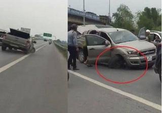 Cái kết bất ngờ vụ xe bán tải bỏ chạy trên cao tốc Bắc Giang dù một bánh sắp rụng