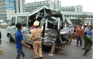Một cảnh sát hình sự tử vong sau tai nạn kinh hoàng trên cao tốc Hà Nội - Bắc Giang