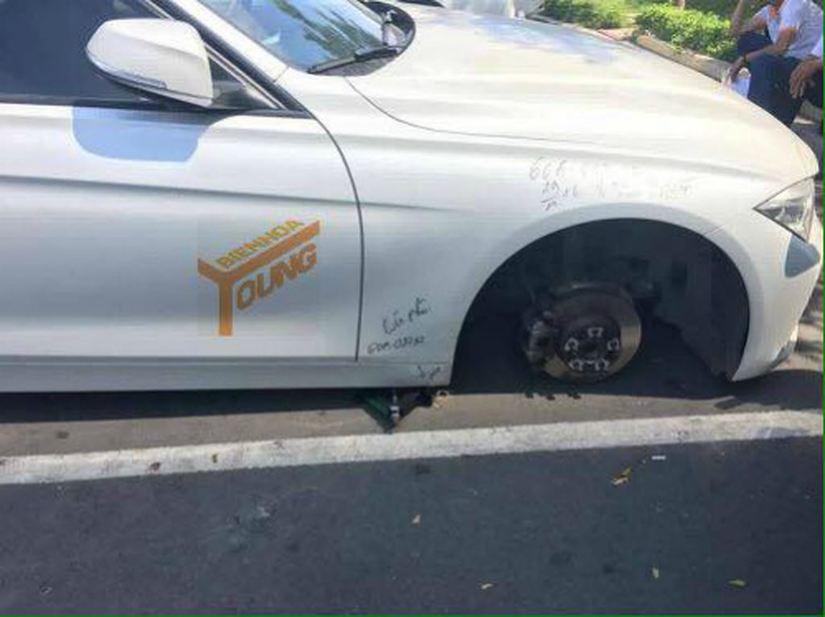 Kia Morning bị trộm tháo cả 4 bánh11