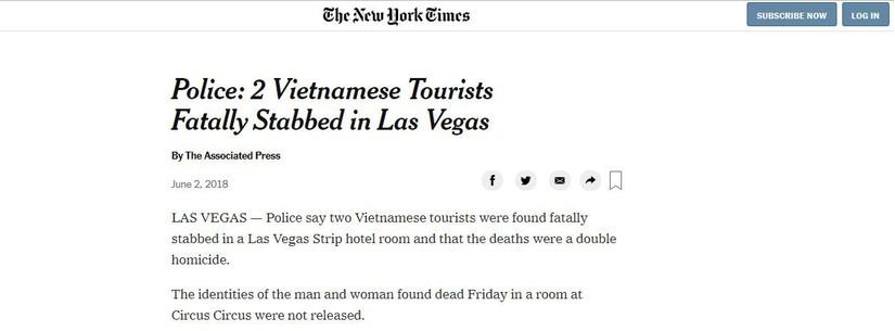 vụ việc 2 người Việt Nam bị sát hại tại Mỹ